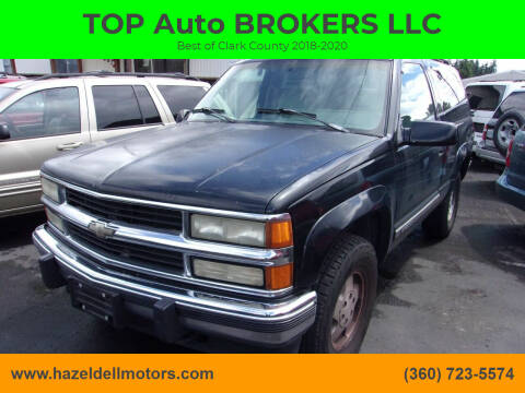 1994 Chevrolet Blazer for sale at TOP Auto BROKERS LLC in Vancouver WA