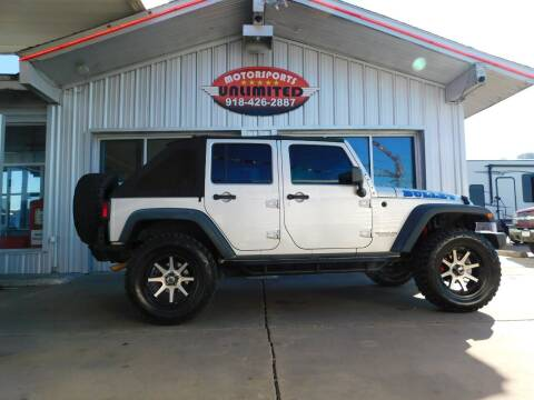 2010 Jeep Wrangler Unlimited for sale at Motorsports Unlimited in McAlester OK