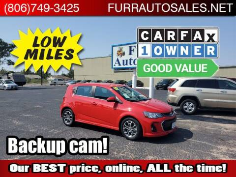 2017 Chevrolet Sonic for sale at FURR AUTO SALES in Lubbock TX