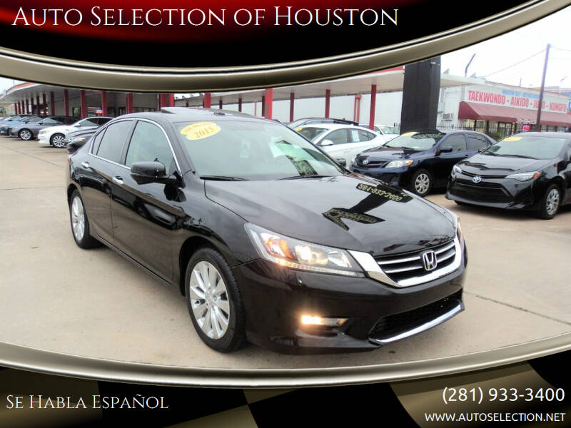 2015 Honda Accord for sale at Auto Selection of Houston in Houston TX