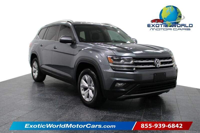 2018 Volkswagen Atlas for sale at Exotic World Motor Cars in Addison TX