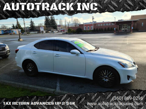 2012 Lexus IS 250 for sale at AUTOTRACK INC in Mount Vernon WA