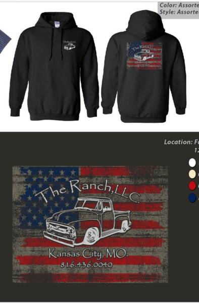 2021 The Ranch Llc HOODIES Hoodies for sale at The Ranch Auto Sales in Kansas City MO
