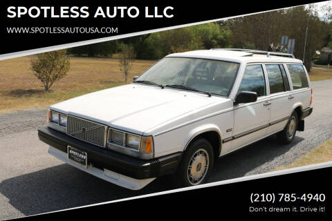 1986 Volvo 740 for sale at SPOTLESS AUTO LLC in San Antonio TX