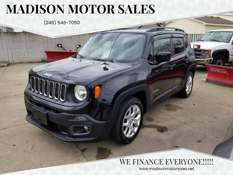 2015 Jeep Renegade for sale at Madison Motor Sales in Madison Heights MI