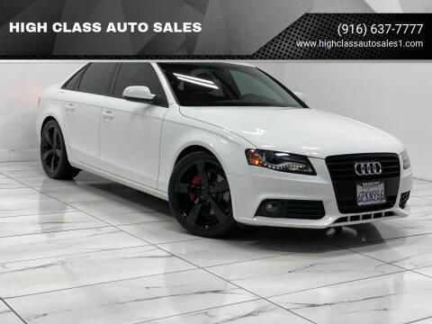 2011 Audi A4 for sale at HIGH CLASS AUTO SALES in Rancho Cordova CA