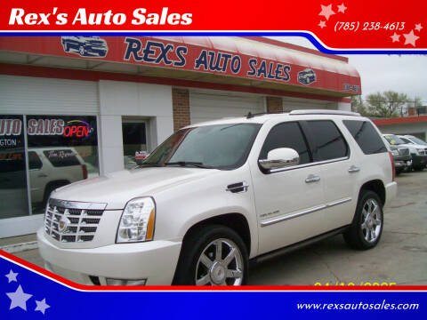 2010 Cadillac Escalade for sale at Rex's Auto Sales in Junction City KS
