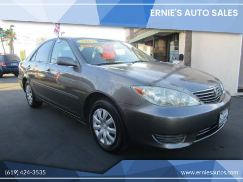 2005 Toyota Camry for sale at Ernie's Auto Sales in Chula Vista CA