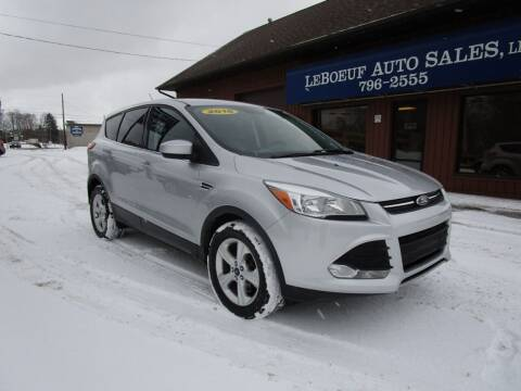 2016 Ford Escape for sale at LeBoeuf Auto Sales in Waterford PA