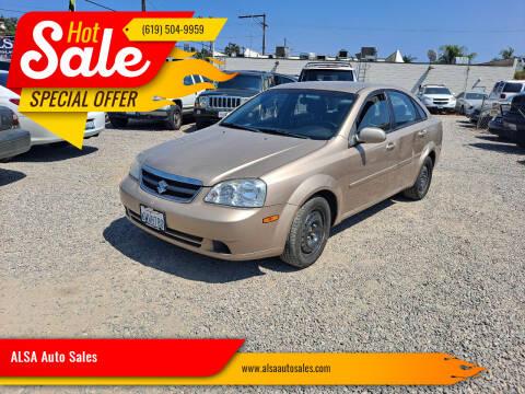 2008 Suzuki Forenza for sale at ALSA Auto Sales in El Cajon CA