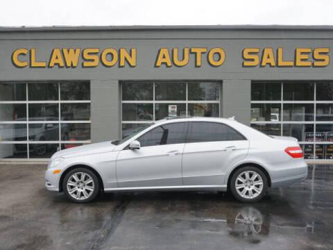 2013 Mercedes-Benz E-Class for sale at Clawson Auto Sales in Clawson MI