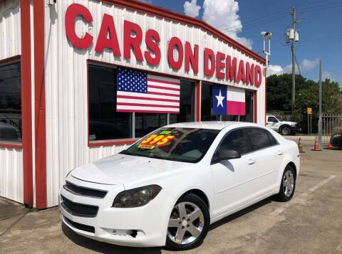 2012 Chevrolet Malibu for sale at Cars On Demand 3 in Pasadena TX