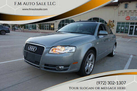 2007 Audi A4 for sale at F.M Auto Sale LLC in Dallas TX