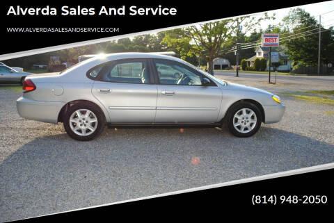 2007 Ford Taurus for sale at Alverda Sales and Service in Alverda PA