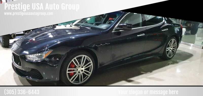 2016 Maserati Ghibli for sale at Prestige USA Auto Group in Miami FL