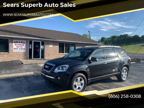 2012 GMC Acadia for sale at Sears Superb Auto Sales in Corbin KY