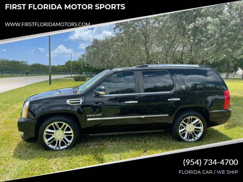 2010 Cadillac Escalade Hybrid for sale at FIRST FLORIDA MOTOR SPORTS in Pompano Beach FL