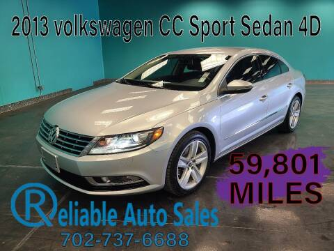 2013 Volkswagen CC for sale at Reliable Auto Sales in Las Vegas NV