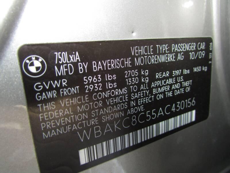 2010 BMW 7 Series AWD 750Li xDrive 4dr Sedan - Linden NJ