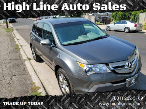 2007 Acura MDX for sale at High Line Auto Sales in Salt Lake City UT