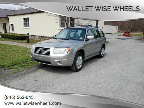 2007 Subaru Forester for sale at Wallet Wise Wheels in Montgomery NY