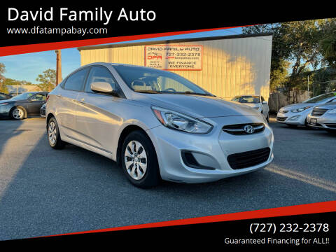 2016 Hyundai Accent for sale at David Family Auto in New Port Richey FL