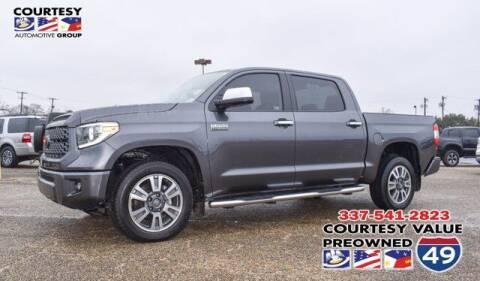 2021 Toyota Tundra for sale at Courtesy Value Pre-Owned I-49 in Lafayette LA