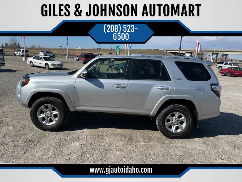 2018 Toyota 4Runner for sale at GILES & JOHNSON AUTOMART in Idaho Falls ID