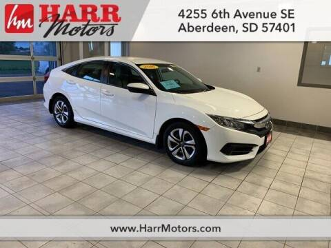 2016 Honda Civic for sale at Harr Motors Bargain Center in Aberdeen SD