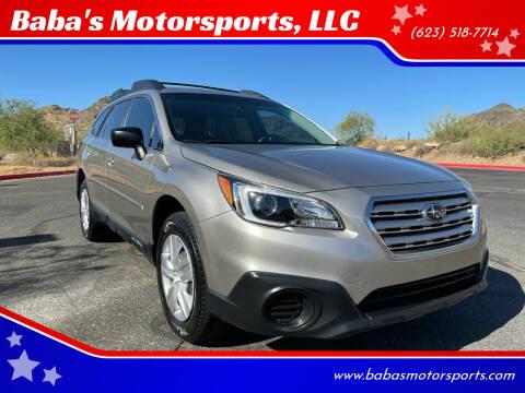 2016 Subaru Outback for sale at Baba's Motorsports, LLC in Phoenix AZ