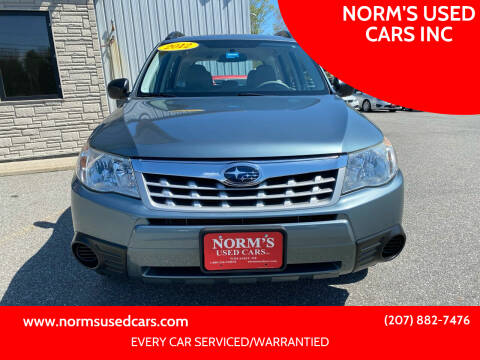 2012 Subaru Forester for sale at NORM'S USED CARS INC in Wiscasset ME