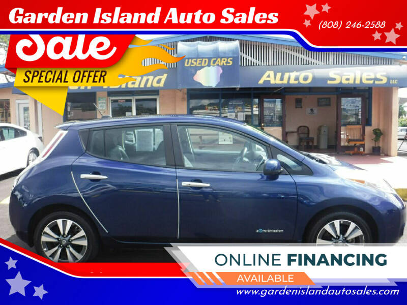 2017 Nissan LEAF for sale at Garden Island Auto Sales in Lihue HI