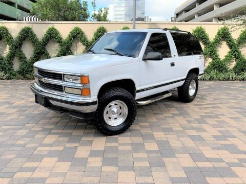 1998 Chevrolet Tahoe for sale at ROGERS MOTORCARS in Houston TX