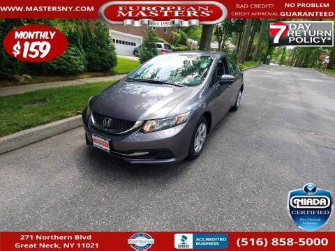 2015 Honda Civic for sale at European Masters in Great Neck NY