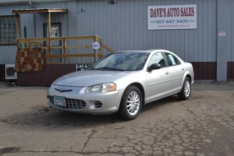 2002 Chrysler Sebring for sale at Dave's Auto Sales in Winthrop MN