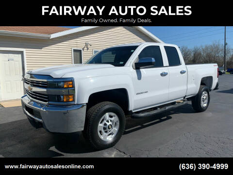 2017 Chevrolet Silverado 2500HD for sale at FAIRWAY AUTO SALES in Washington MO