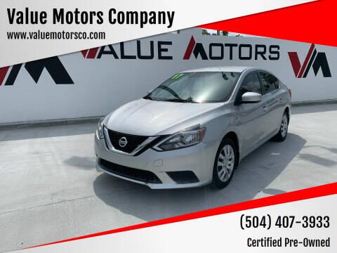 2017 Nissan Sentra for sale at Value Motors Company in Marrero LA
