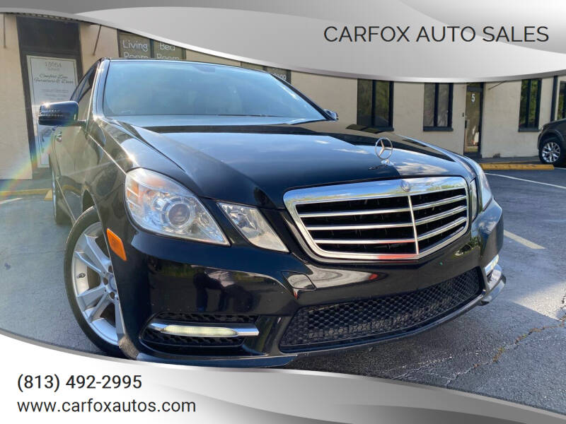 2013 Mercedes-Benz E-Class for sale at Carfox Auto Sales in Tampa FL