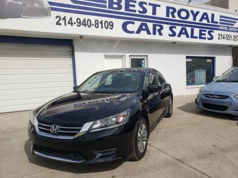 2014 Honda Accord for sale at Best Royal Car Sales in Dallas TX