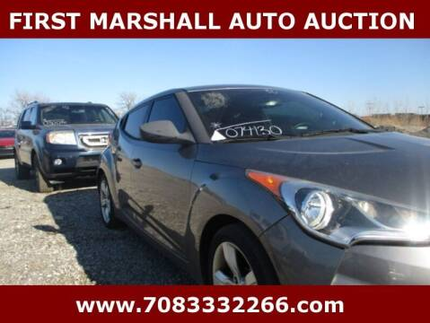 2012 Hyundai Veloster for sale at First Marshall Auto Auction in Harvey IL