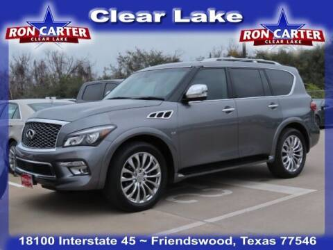 2015 Infiniti QX80 for sale at Ron Carter  Clear Lake Used Cars in Houston TX