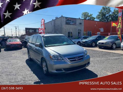 2007 Honda Odyssey for sale at Impressive Auto Sales in Philadelphia PA