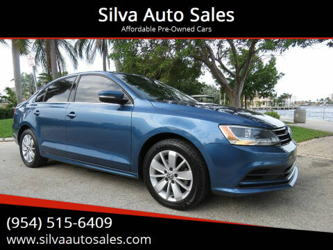 2015 Volkswagen Jetta for sale at Silva Auto Sales in Pompano Beach FL