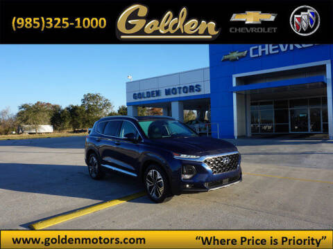 2019 Hyundai Santa Fe for sale at GOLDEN MOTORS in Cut Off LA
