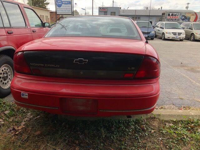 1996 Chevrolet Monte Carlo for sale at New Start Motors LLC - Crawfordsville in Crawfordsville IN