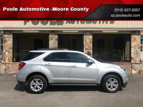 2016 Chevrolet Equinox for sale at Poole Automotive in Laurinburg NC