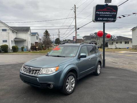 2012 Subaru Forester for sale at Passariello's Auto Sales LLC in Old Forge PA