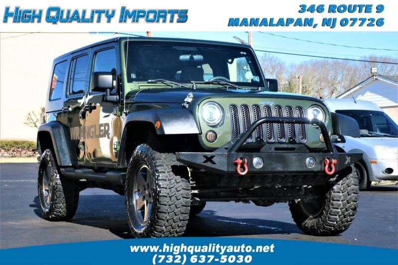 2009 Jeep Wrangler Unlimited for sale at High Quality Imports in Manalapan NJ