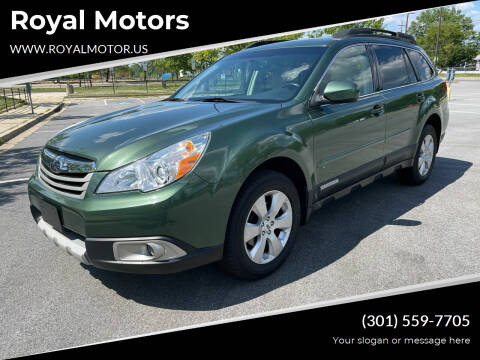 2012 Subaru Outback for sale at Royal Motors in Hyattsville MD