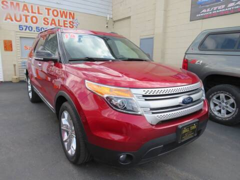2014 Ford Explorer for sale at Small Town Auto Sales in Hazleton PA
